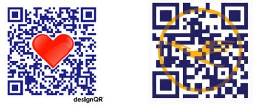 Designer QR Code examples provided by Mark Sprague